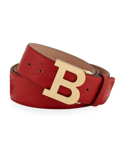 Men's Stamped Leather Belt