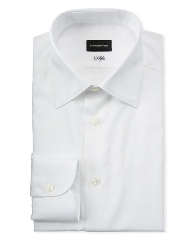 Men's Solid Cotton Dress Shirt