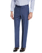Ermenegildo Zegna Men's Achill Farm Wool/Silk Dress Trousers