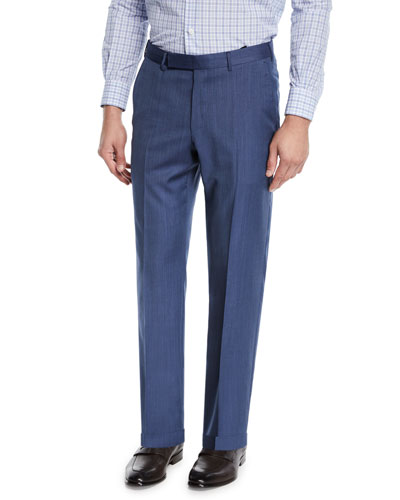 Men's Achill Farm Wool/Silk Dress Trousers