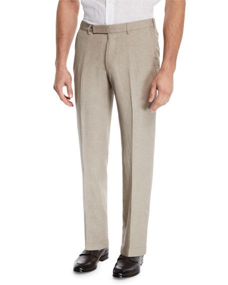 Ermenegildo Zegna Men's Wool/Linen Dress Trousers