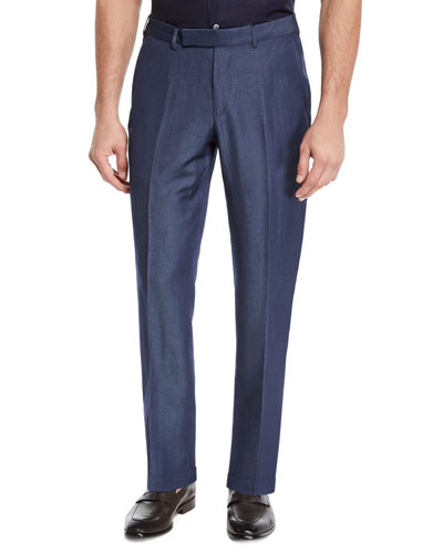 Men's Wool/Linen Dress Trousers
