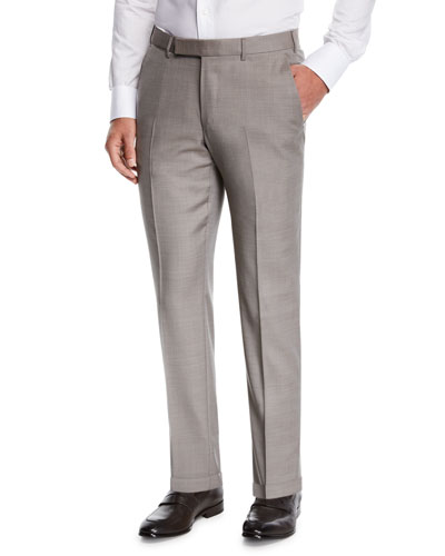 Men's Achill Wool/Silk Dress Trousers