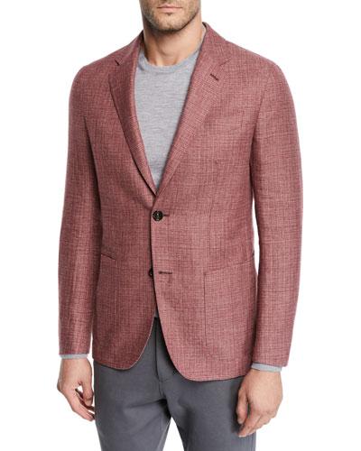 Men's Wool/Linen Tic Blazer