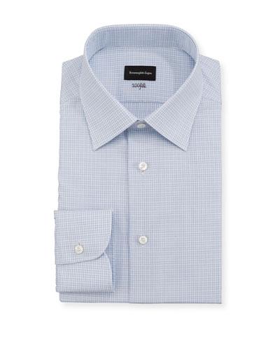 Men's 100fili Micro-Check Dress Shirt
