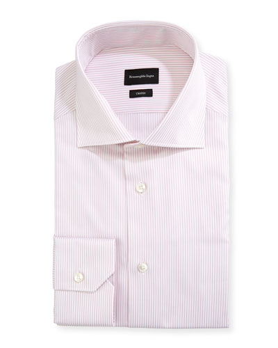 Men's Trofeo Striped Cotton Dress Shirt