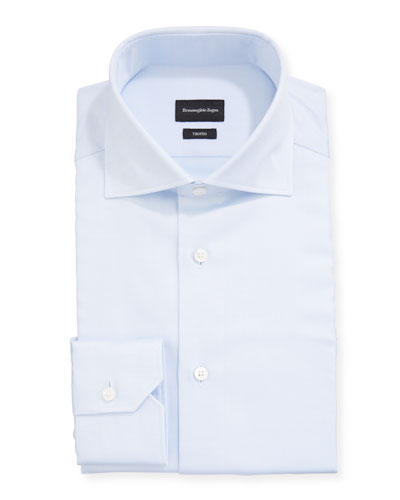 Men's Trofeo Solid Cotton Dress Shirt