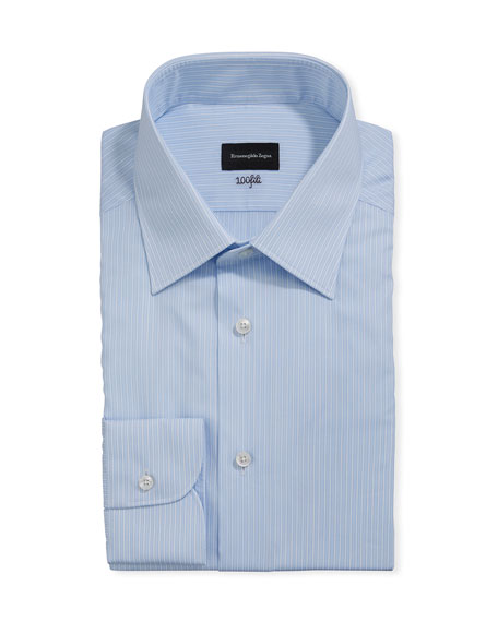 Ermenegildo Zegna Men's 100fili Bengal Striped Dress Shirt