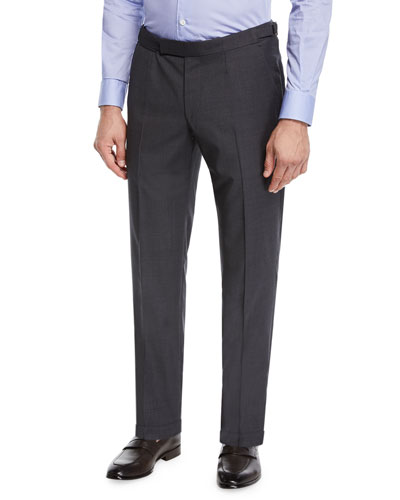 Men's Wool Stretch Dress Trousers