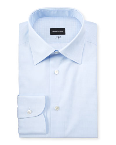 Men's Cotton Tonal Check Cento Dress Shirt