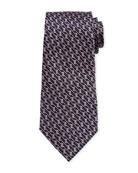 Ermenegildo Zegna Graphic Micro Textured Tie