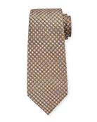 Ermenegildo Zegna Men's Micro-Geo Silk Tie, Yellow