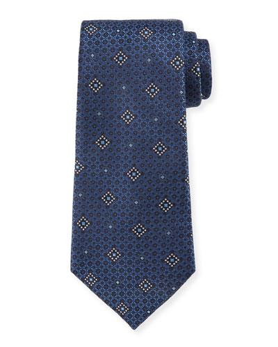 Diamond Graphic Silk Tie