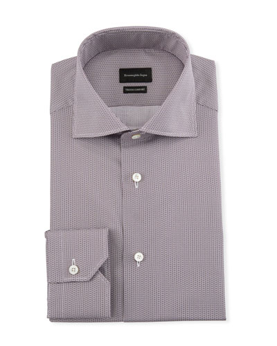 Men's Trofeo Comfort Micro-Print Dress Shirt