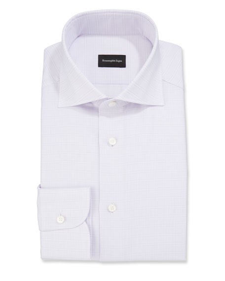 Ermenegildo Zegna Men's Glen Check Dress Shirt