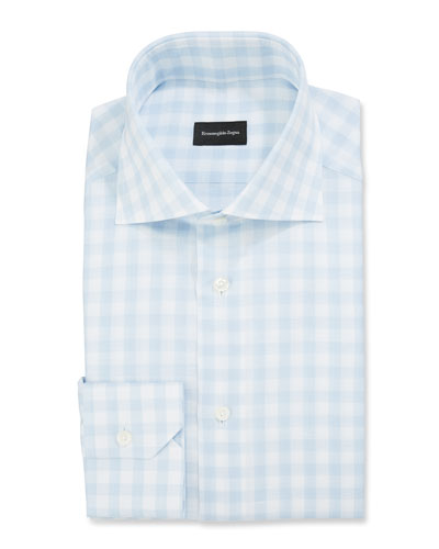 Men's Large-Gingham Dress Shirt