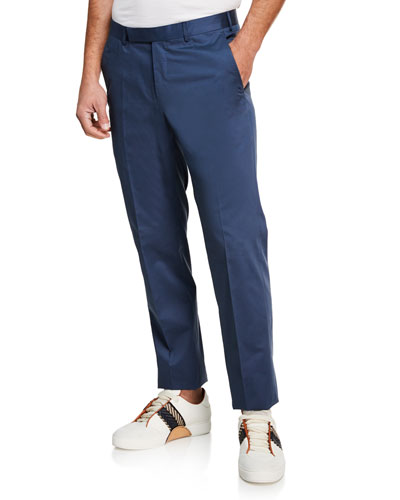 Men's Cotton Sateen Tapered Pants