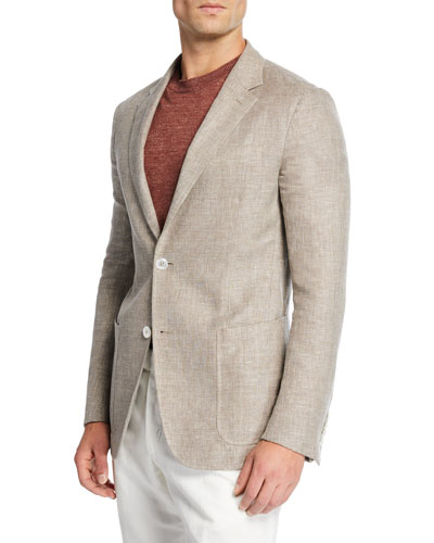 Men's Crossover Linen Sport Coat