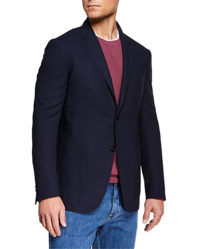 Men's Packaway Wool Two-Button Jacket