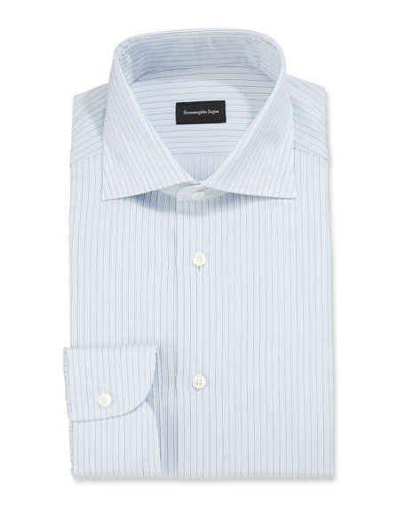 Ermenegildo Zegna Men's Micro-Striped Regular-Fit Dress Shirt