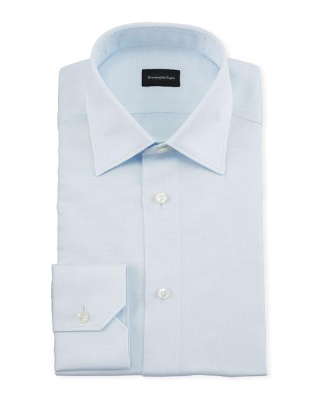 Ermenegildo Zegna Men's Light Blue End-On-End Dress Shirt