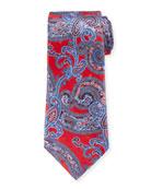 Ermenegildo Zegna Large-Scale Paisley Tie, Red
