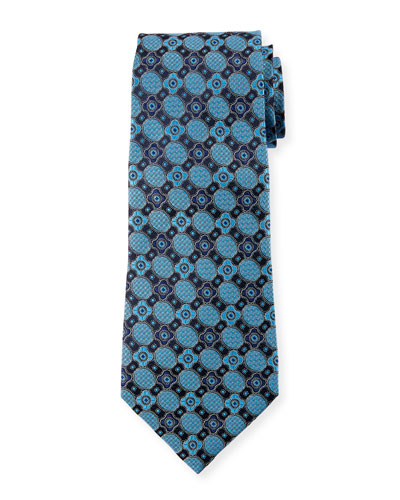 Satin Jacquard Medallion Silk Tie