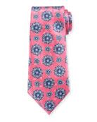 Ermenegildo Zegna Exploded Flowers Silk Tie, Pink