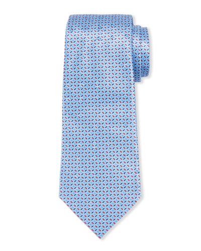 Large-Scale Paisley Tie, Light Blue