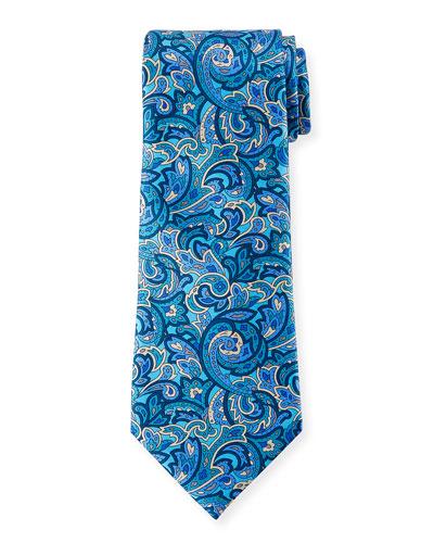 Men's Medium-Scale Paisley Tie