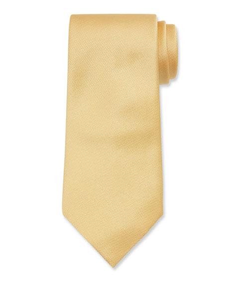 Ermenegildo Zegna Solid Silk Twill Tie, Yellow