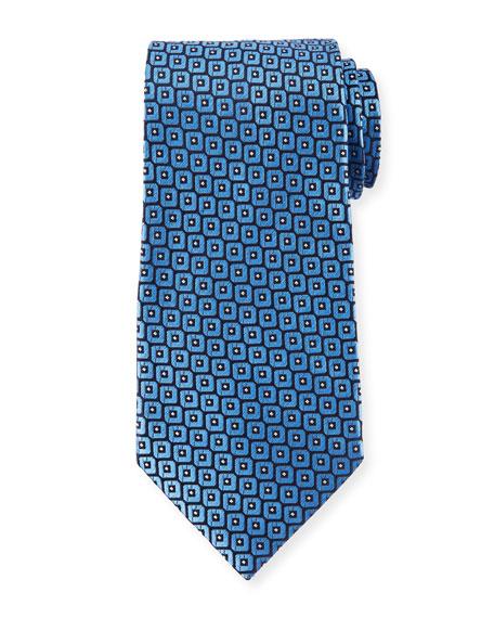 Ermenegildo Zegna Men's Woven Boxes Silk Tie