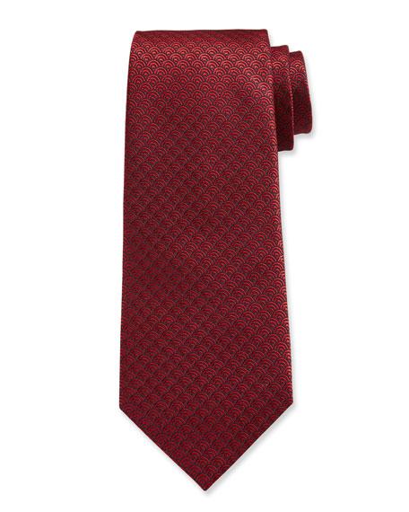 Ermenegildo Zegna Woven Tiles Silk Tie