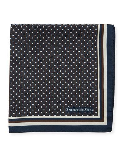 Micro Diamond Silk Pocket Square