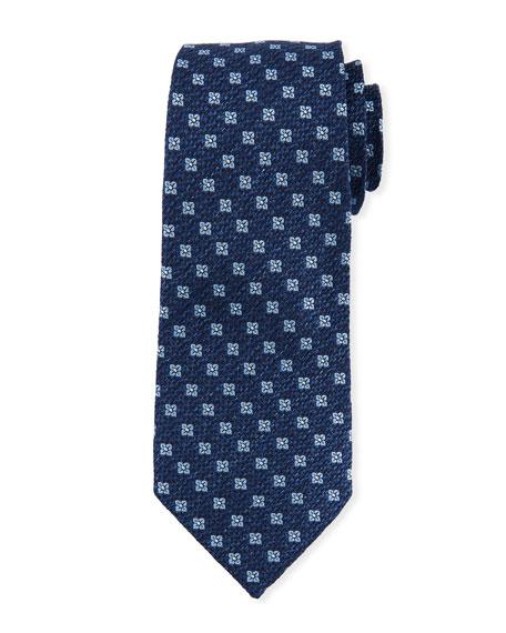 Ermenegildo Zegna Square Floral Silk Tie