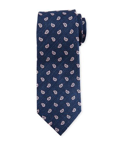 Paisley Pines Silk Tie