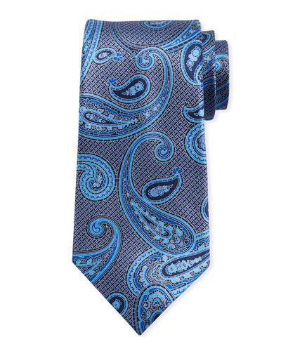 Macro Paisley Silk Tie