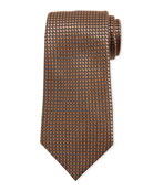 Ermenegildo Zegna Basketweave Silk Tie, Orange