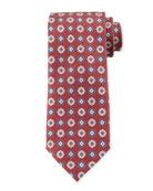 Ermenegildo Zegna Medallions Silk Tie, Red