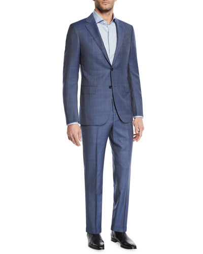 Men's Windowpane 2-Piece Suit