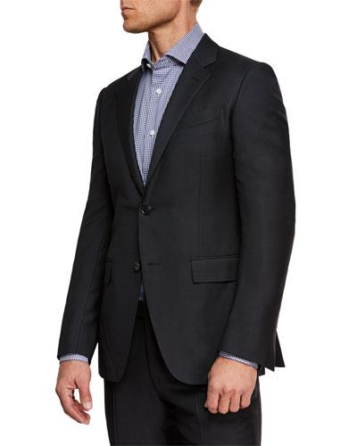 Men's Nailhead Wool Two-Piece Suit