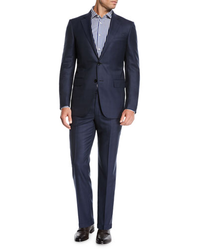 Men's Two-Piece Midnight Plaid Suit