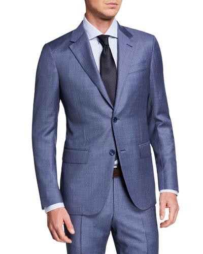 Men's Sharkskin Two-Piece Suit