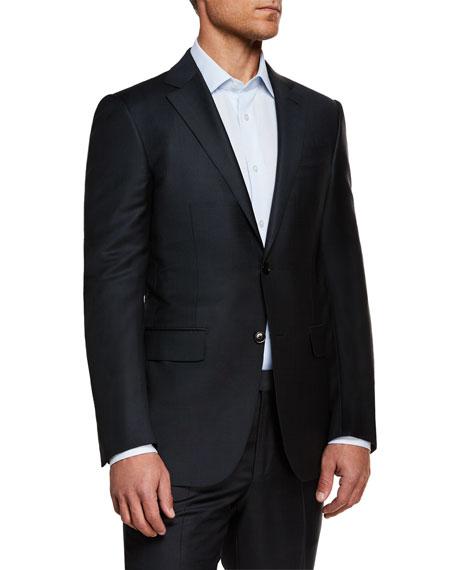 Ermenegildo Zegna Men's Textured Regular-Fit Solid Wool Two-Piece Suit