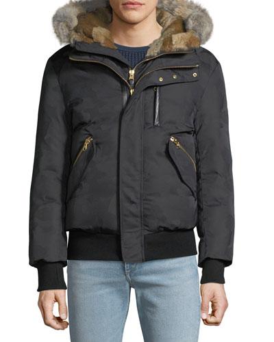 Men's Dixon Puffer Coat with Fur Trim