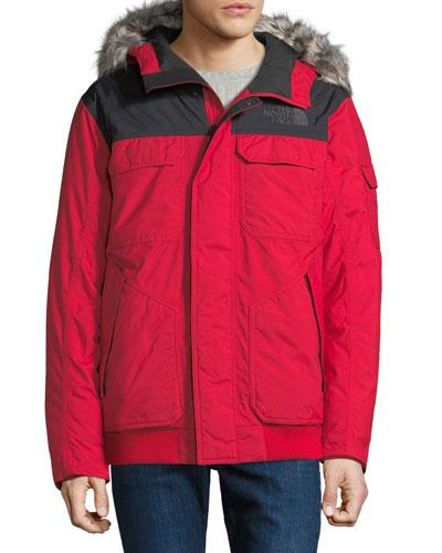 Men's Gotham Fur-Trim Parka Coat
