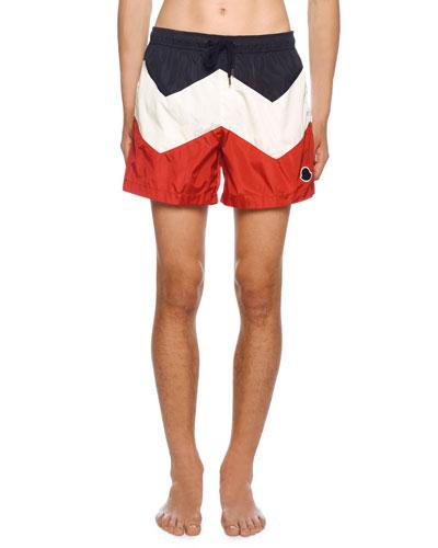 1bca4216b7 Quick Look. Moncler · Men's Tricolor Swim Trunks
