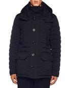 Moncler Men's Davis Puffer Jacket w/ Removable Hood