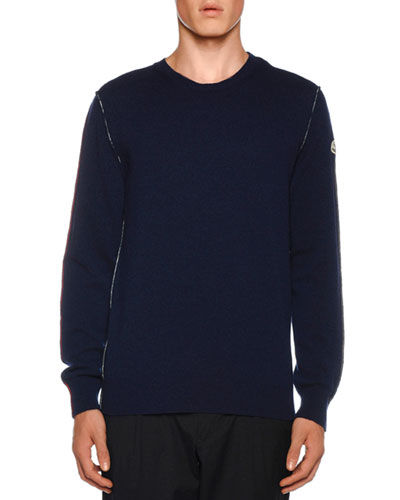 Men's Cashmere Sweater w/ Seaming Details