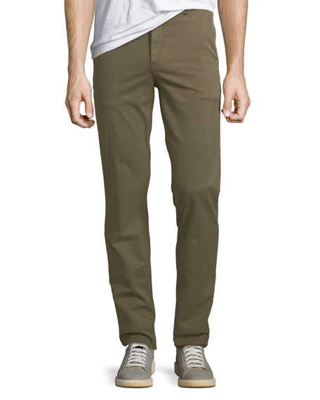 Rag & Bone Men's Standard Issue Fit 2 Mid-Rise Relaxed Slim-Fit Chino Pants, Green Army